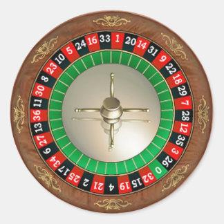 Roulette-Aufkleber Runder Aufkleber