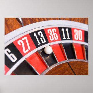 Roulette-Rad-Nahaufnahme Plakat