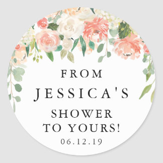 Round Favor Sticker - Pretty Peach