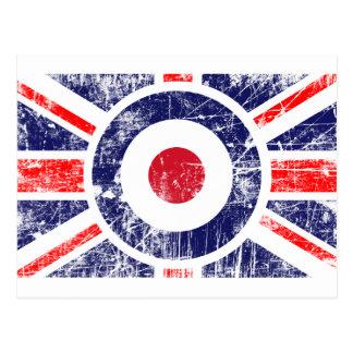 Roundel Ziel-Mod-BRITISCHER Postkarte