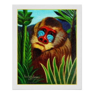 Rousseau - Dorn im Dschungel Anpassung Plakatdrucke