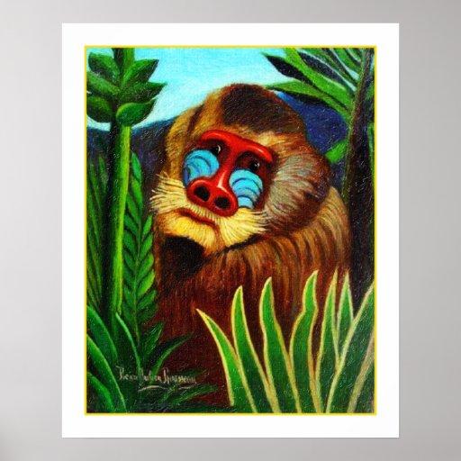 Rousseau - Dorn im Dschungel (Anpassung) Plakatdrucke