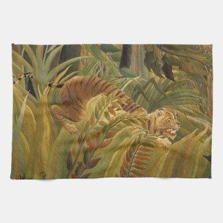 Rousseau Dschungel-tropische Küchentuch