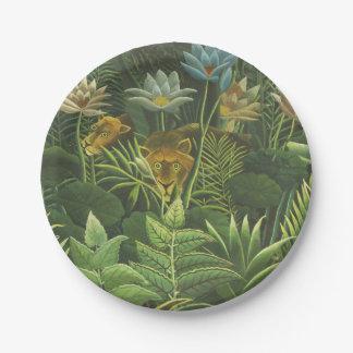 Rousseau Dschungel-tropische Pappteller
