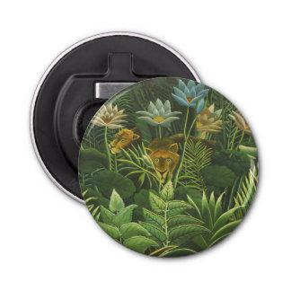 Rousseau Dschungel-tropische Runder Flaschenöffner