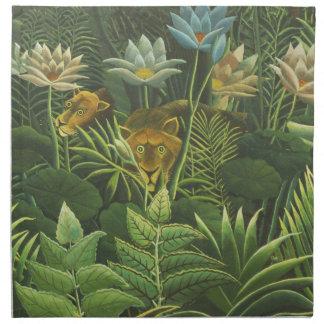 Rousseau Dschungel-tropische Serviette