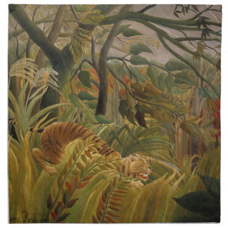 Rousseau Dschungel-tropische Stoffserviette