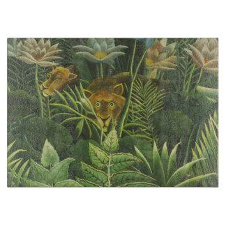 Rousseau Dschungel-tropischer Löwe-Kunst-Druck Schneidebrett