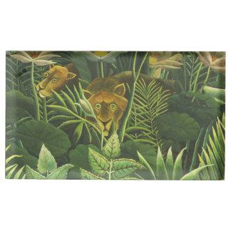 Rousseau Dschungel-tropischer Löwe-Kunst-Druck Tischnummernhalter