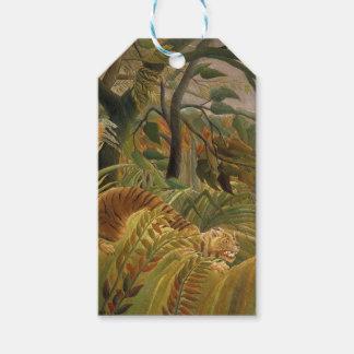 Rousseau Dschungel-tropischer Tiger-Kunst-Druck Geschenkanhänger