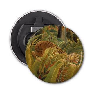 Rousseau Dschungel-tropischer Tiger-Kunst-Druck Runder Flaschenöffner