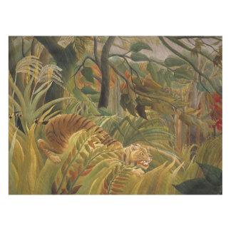 Rousseau Dschungel-tropischer Tiger-Kunst-Druck Tischdecke