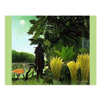 Rousseau Schlangenbeschwörer Postkarte