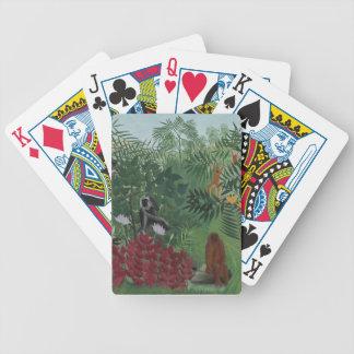Rousseau tropischer Wald mit Affen Bicycle Spielkarten