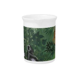 Rousseau tropischer Wald mit Affen Krug