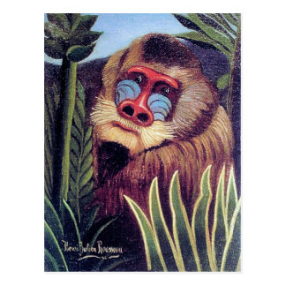 "Rousseaus ""Mandrill im Dschungel"" (circa 1909) Postkarte"