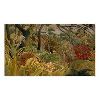 Rousseaus Tiger-Gewohnheits-Visitenkarten