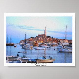 Rovinj Hafen, Kroatien-Plakat Poster