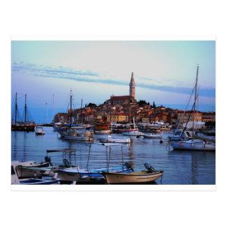 Rovinj Hafen, Kroatien Postkarte