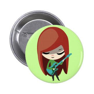 Roxie Rockstar Runder Button 5,1 Cm