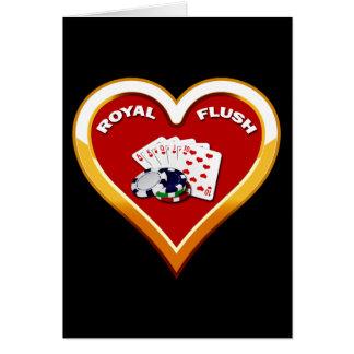 ROYAL FLUSH-HERZ KARTE