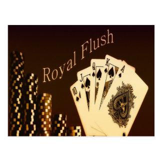 Royal Flush Postkarte