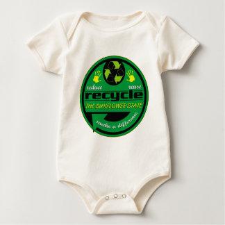 RRR der Sonnenblume-Staat Baby Strampler