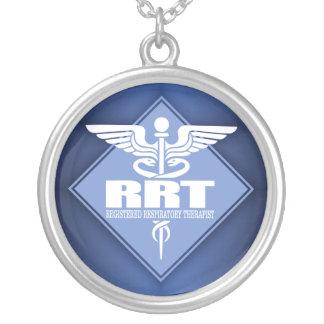 RRT registrierter Atmungstherapeut Versilberte Kette