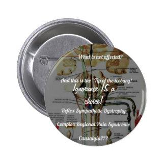 RSD-CRPS Ignoranz IST ein auserlesener Knopf! Runder Button 5,1 Cm