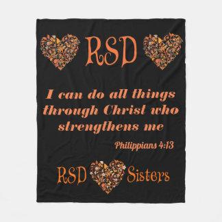 RSD Herzen Bibel-Versphilippians-4:13 Fleecedecke