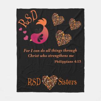 RSD Vogelherzen Bibel-Versphilippians-4:13 Fleecedecke