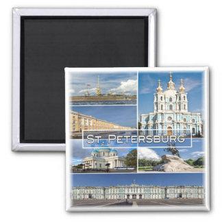RU * Russland - St. Petersburg Russland Quadratischer Magnet