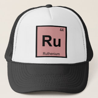 Ru - Ruthenium-Chemie-Periodensystem-Symbol Truckerkappe