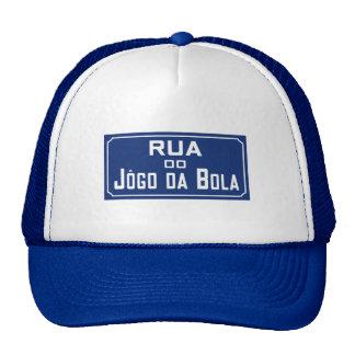 Rua Jogo DA Kugelkette, Straßenschild, Rio de Truckerkappe