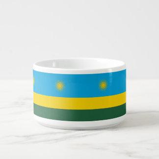 Ruanda-Flagge Schüssel