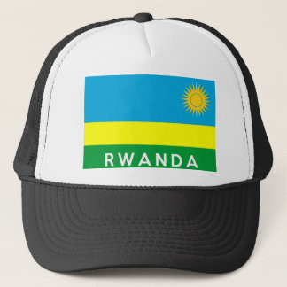 Ruanda-Flaggenland-Textname Truckerkappe