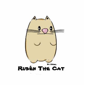 Rubén The Cat Stift Fotoskulptur Button