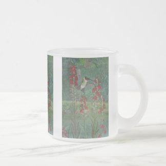 Rubin-Kehle und Kardinals-Blume Mattglastasse