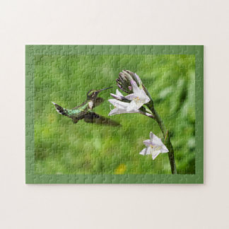 Rubin-throated Kolibri-Puzzlespiel Puzzle