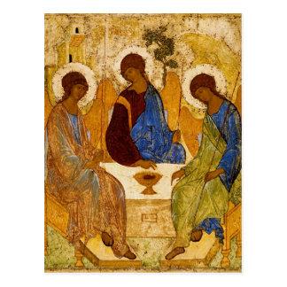 Rublev Dreiheit am Tisch Postkarte