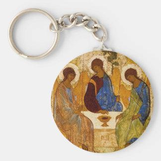 Rublev Dreiheit am Tisch Schlüsselanhänger