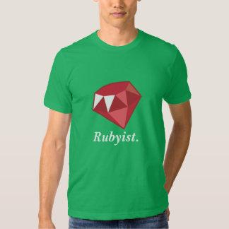 Rubyist karminrotes Programmierer-Grün-Shirt Tshirts