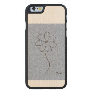 Rück Carved® iPhone 6 Hülle Ahorn