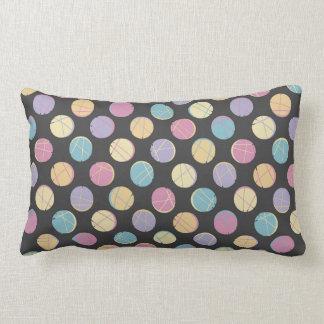 Rück Colorful confetti dots black modern pillow Zierkissen