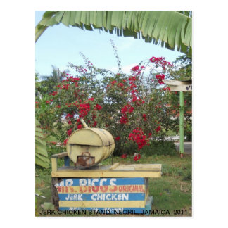 Ruck-Huhn-Stand in Negril, Jamaika 2011 Postkarte