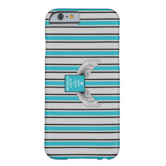 Rück Kciafa gray and blue with stripes Barely There iPhone 6 Hülle