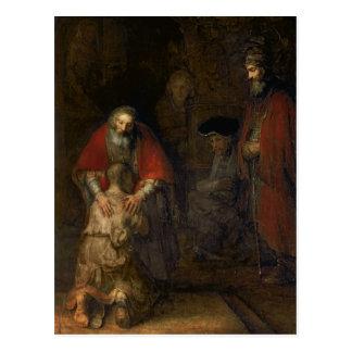 Rückkehr des verschwenderischen Sohns, c.1668-69 Postkarte