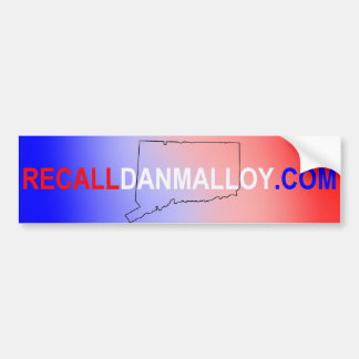Rückruf Dan Malloy Autoaufkleber