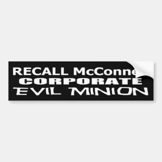 Rückruf-Gouverneur-Mitch McConnell Koch der Günstl Autoaufkleber