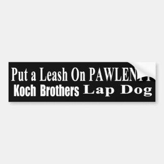 Rückruf-Gouverneur Pawlenty Koch der schlechte Gün Autoaufkleber